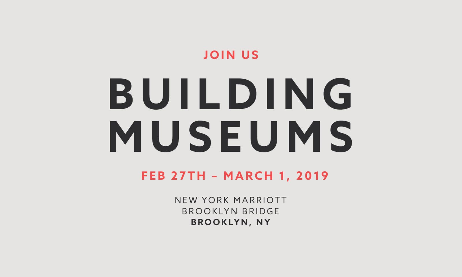 Building Museums 2019