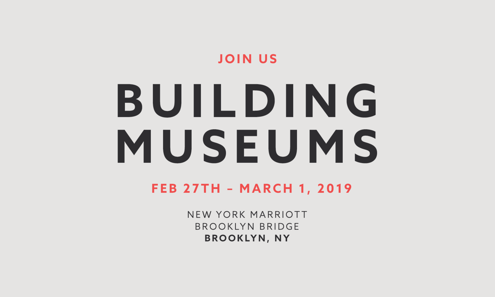 Building Museums 2019